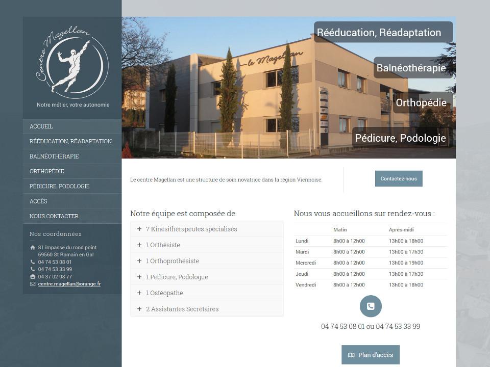 Page d'accueil du site centre magellan