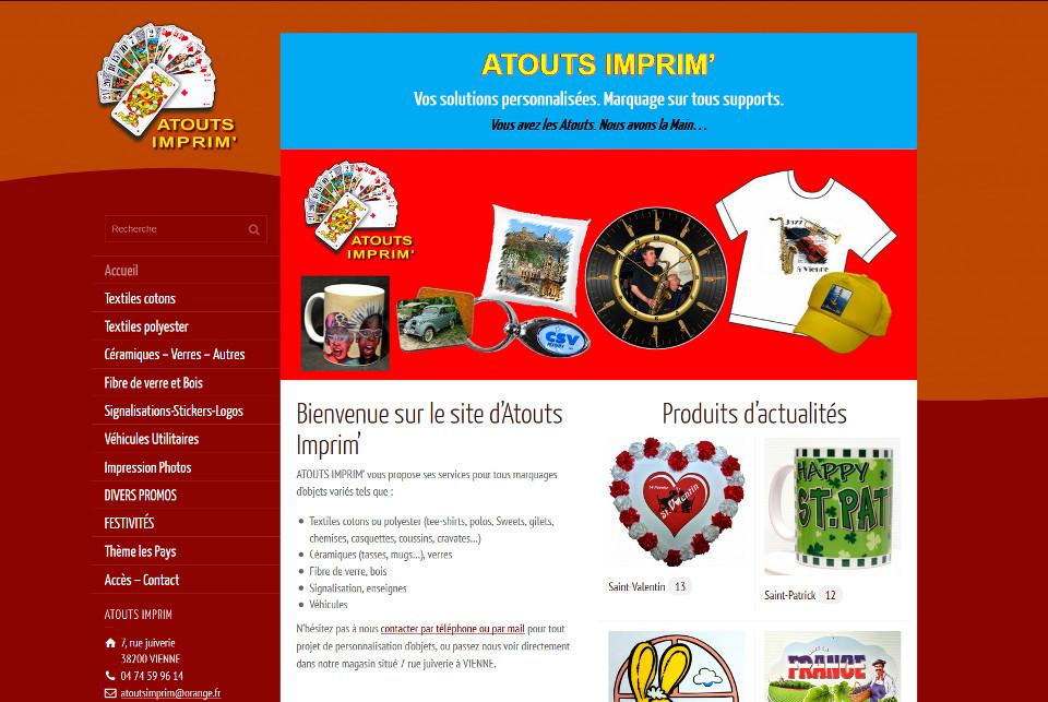 Page d'accueil Atouts Imprim