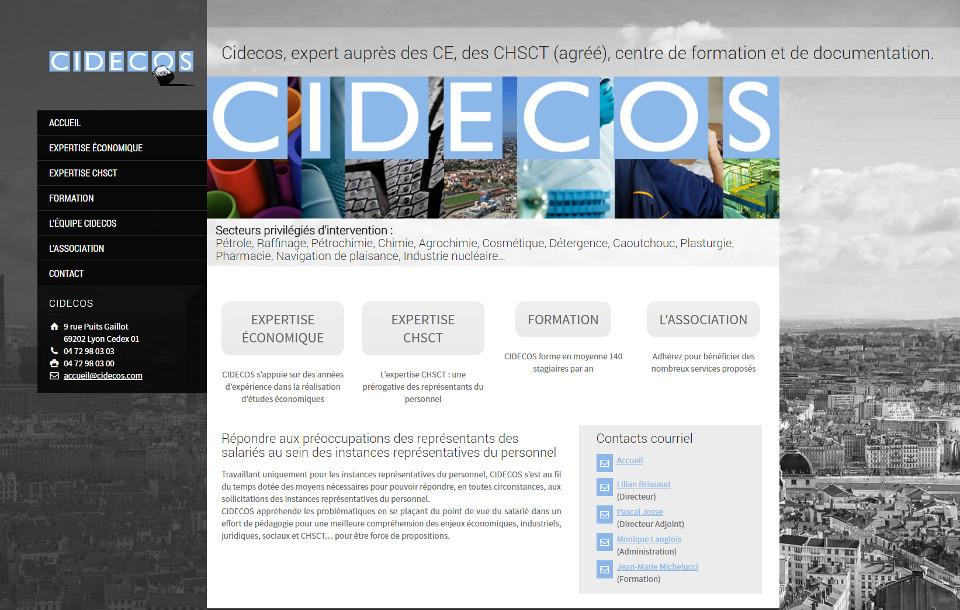 Cidecos, expert auprès des CE, des CHSCT (agréé), centre de formation et de documentation.